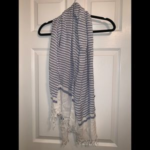 Lane Bryant Blue and White Stripped Scarf